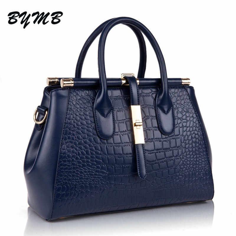 aa5d9a6535ee 2018 Crocodile Women Bag Big Luxury Elegant Top Handle Bags Brand Women  Designer Handbags Alligator Genuine