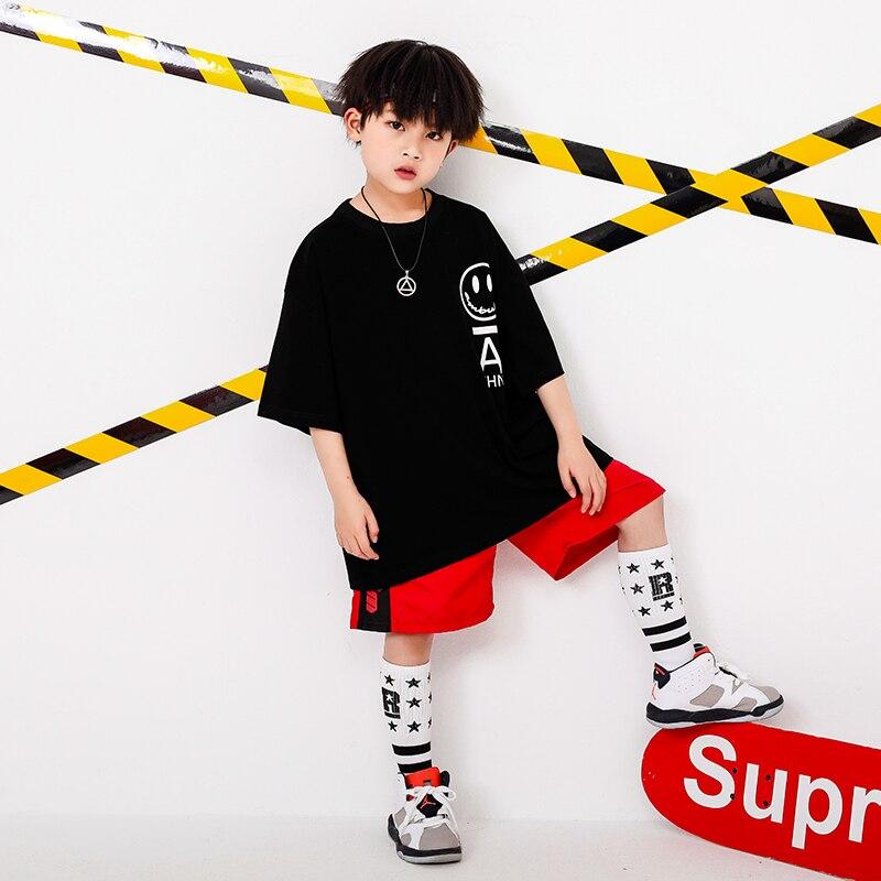 Boy Girl summer 2019 clothes Set 4 6 8 10 12 14 16T hip hop dance costumes kids Jazz set on the boy outfits kids clothes boys (6)
