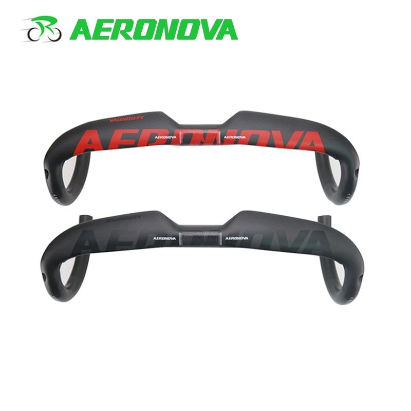 AERONOVA Bicycle Handlebar Road Bike 31 8mm Carbon Handlebars 400 420 440 Drop Internal Routing 3K