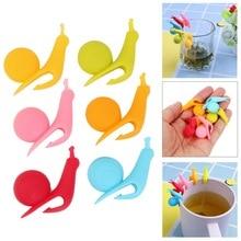 NICEYARD симпатичные формы улитки чайный пакетик держатель чашки Силиконовые чайные инструменты Randome цветные чайные зажимы Висячие на кружке инструмент для украшения чашек инструмент