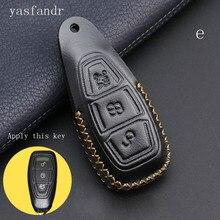 Автомобильные аксессуары araba aksesuar чехол для ключей, чехол для автомобиля, умный ключ для Ford Focus C-Max Mondeo Kuga Fiesta, Автомобильный ключ, 3 кнопки