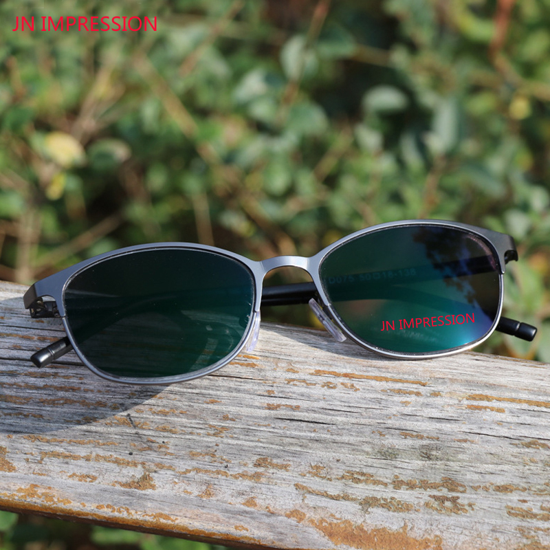 JN IMPRESSION haut de Gamme Transition Soleil Photochromiques Lunettes de Lecture En Métal Cadre En Plein Air Soleil lecteur Lunettes Oculos De Grau 1.0 -4.0