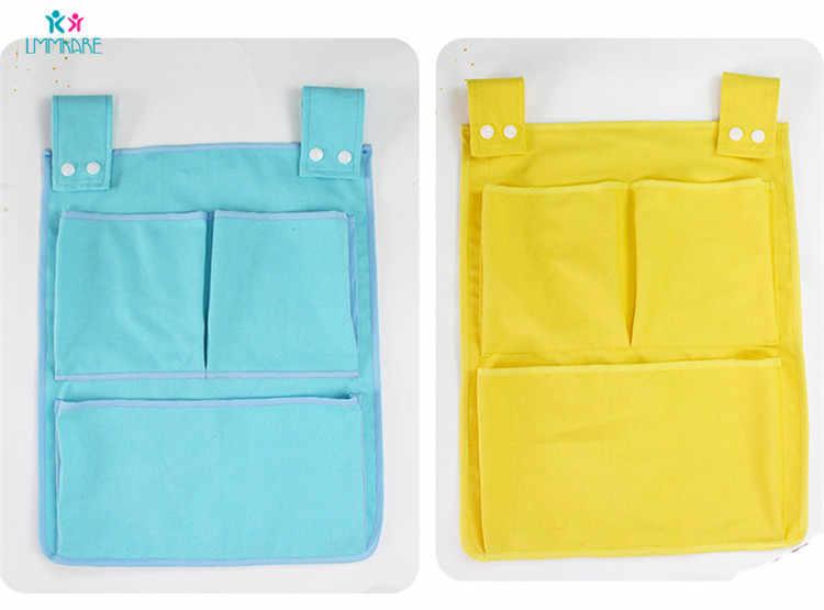 Холст Детская кроватка для младенца кровать висит мешок слоистых бампер Жесткая Сумка сосуд sundry маленькая сумка детские постельные принадлежности