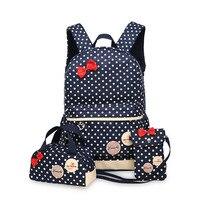 Cute Girls Bow Backpacks Kids Satchel Children School Bags For Girls Orthopedic Waterproof Backpack Mochila Escolar