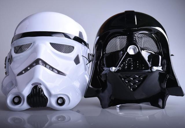 """Лидер продаж Хэллоуин фестиваль ужасная маска в форме головы солдата-клона из """"Звездных Войн"""" солдаты Косплей анфас маска для Вечерние игры маска к Хэллоуину"""