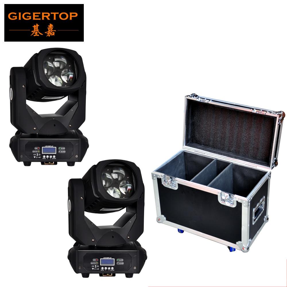 Ударопрочный 2в1 Flightcase Pack 4x25 Вт Светодиодный луч движущийся головной свет 130 Вт DMX 9/15 каналов Супер устройство сканирования пучка вращающийся стеклянный объектив