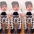 2017 verão nova infantil roupas de bebê menino roupas de menina de moda bigode T-shirt + calças 2 pcs/suit bebê recém-nascido conjunto de roupas