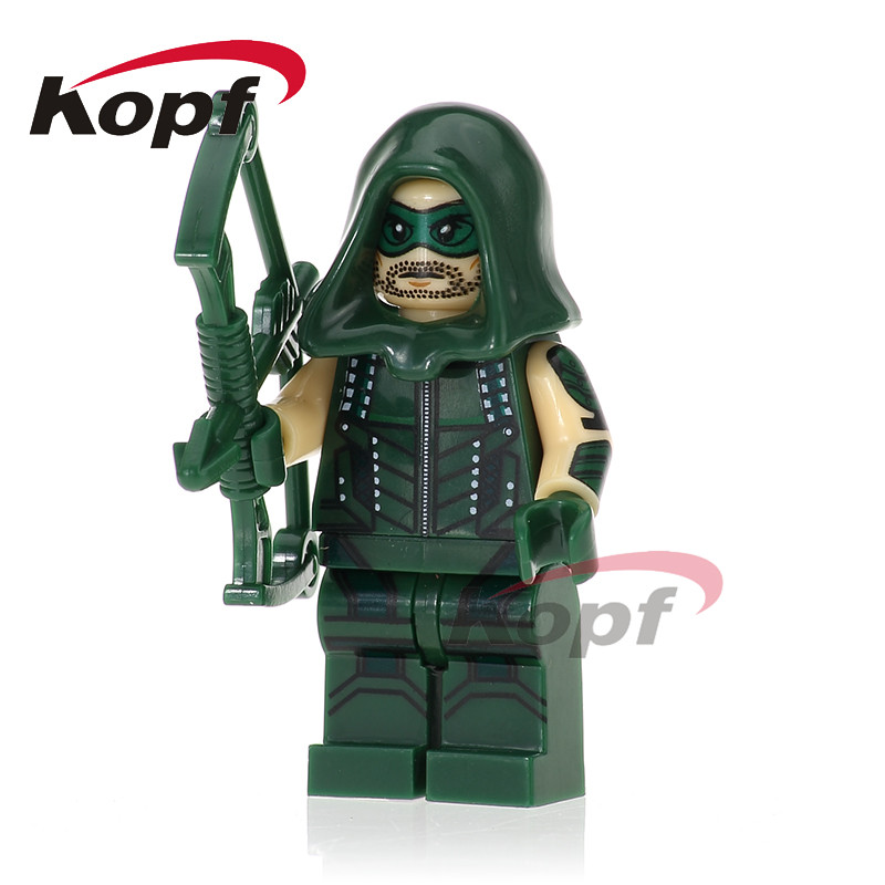 XH 728 Super Heroes Wars Building Blocks Arrow Mister Terrific White Canary Iron fist Elekta Education Children Gift Toys