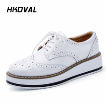 HKOVAL Women Shoes Sneaker Loafers Casual Genuine Leather Moccasins Ladies Shoe Woman Female Flats Mother Footwear цена 2017
