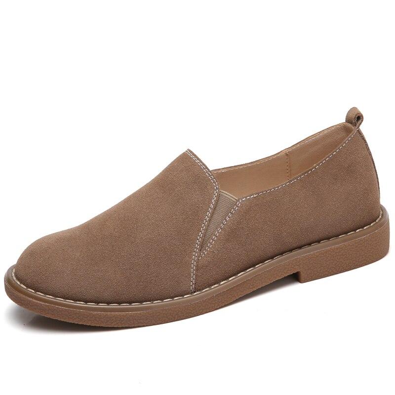 100% QualitäT Lefoche Frauen Frühling Britischen Stil Slip-auf Flach Feste Runde Kappe Weiche Mode Wilden Casual Flache Schuhe In Vielen Stilen Schuhe Frauen Schuhe