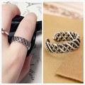 2017 Hot Sale 100% 925 Sterling Silver Retro Style Ring Jewelry Gift Finger Open Rings for Women Wedding Valentine's Day Gift