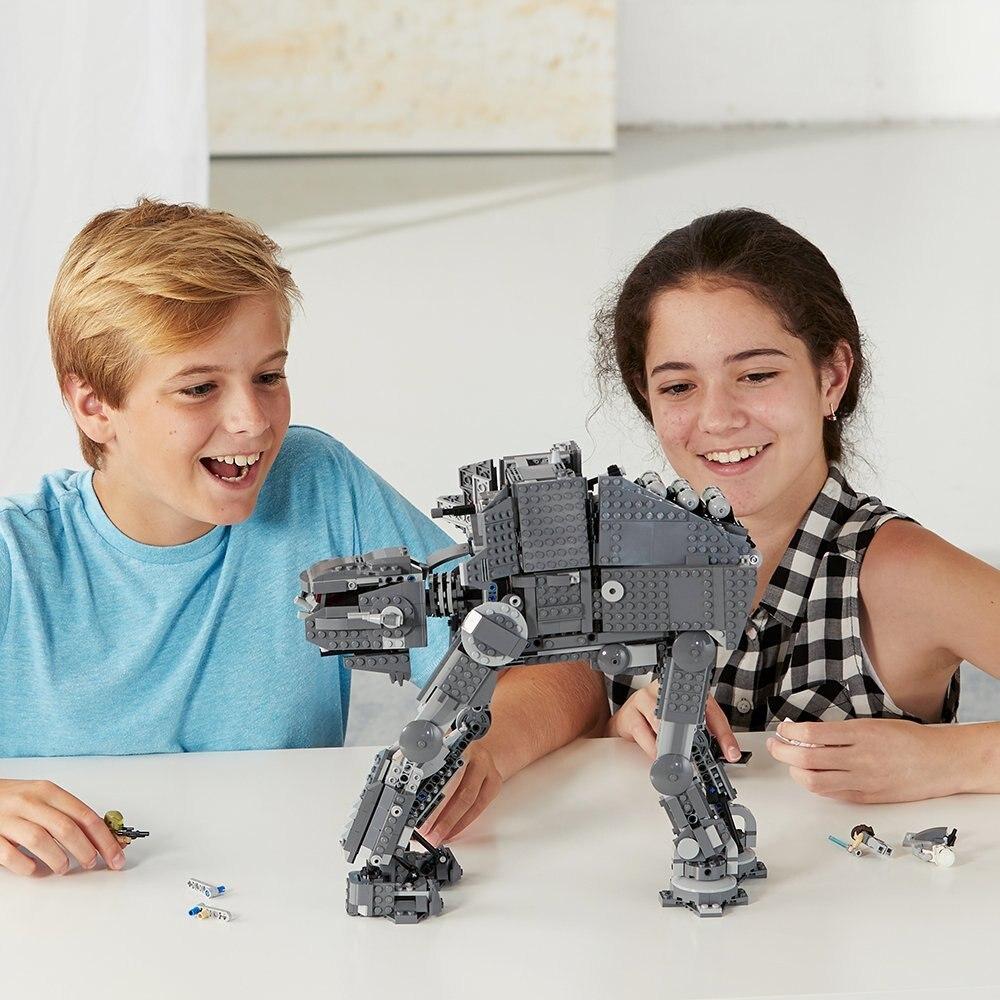 Звездные Войны Силы пробудить на транспотации AT-At бронированный Робот строительные блоки игрушки, совместимые с Legoings 75054