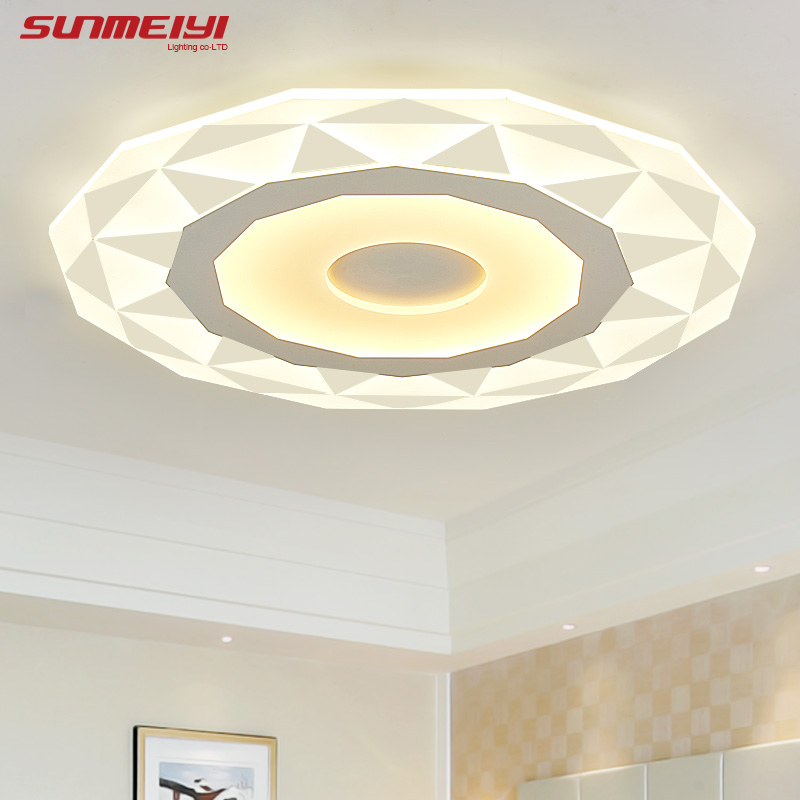 2017 Ultrathin Acrylic Modern LED Ceiling Lights for Living Room Ceiling Lamp Bedroom Decorative lampshade Lamparas de techo modern led ceiling lights acrylic ultrathin living room ceiling lights bedroom decorative lampshade lamparas de techo