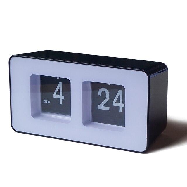 Page Turning Jumping Movement Digital Square Desktop Clocks Retro