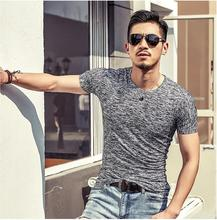 цены 2017 Spring Summer Men Tops Fashion Slim Fit Short Sleeve T-Shirt Men Trend Sexy Casual Men T-Shirt Korean T-Shirts