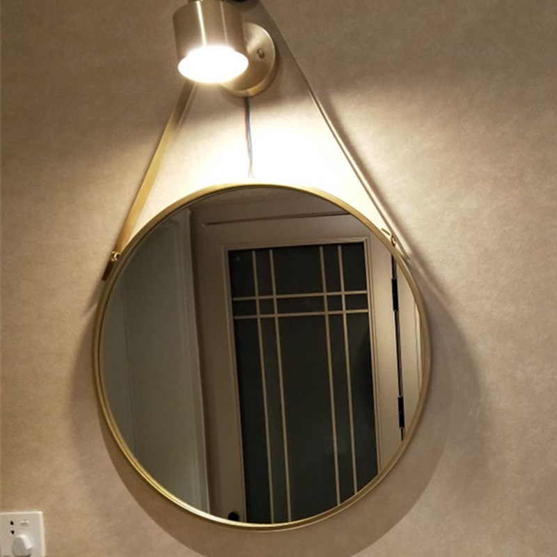 Nordic Wall-mounted Decorative Mirror Wall-mounted Bathroom Decorative Mirror Wall Mirrors Toilet Round Wall Mirrors for Home