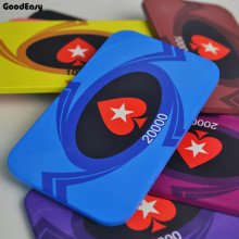 10PCS/LOT Square Peach heart Texas Holdem Casino Ceramic EPT Poker Chips Lighter Pokerstar Party Entertainment Customied