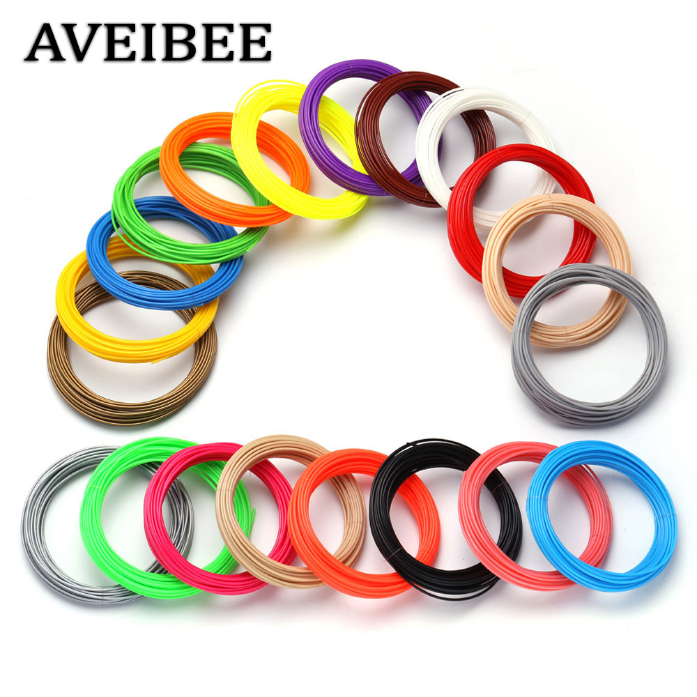 <font><b>ABS</b></font> <font><b>3D</b></font> Printer Filaments 200 Meter 20 color Printing Materials Plastic Threads Wire <font><b>1.75</b></font> mm Printer Consumables For 3 D Pen image