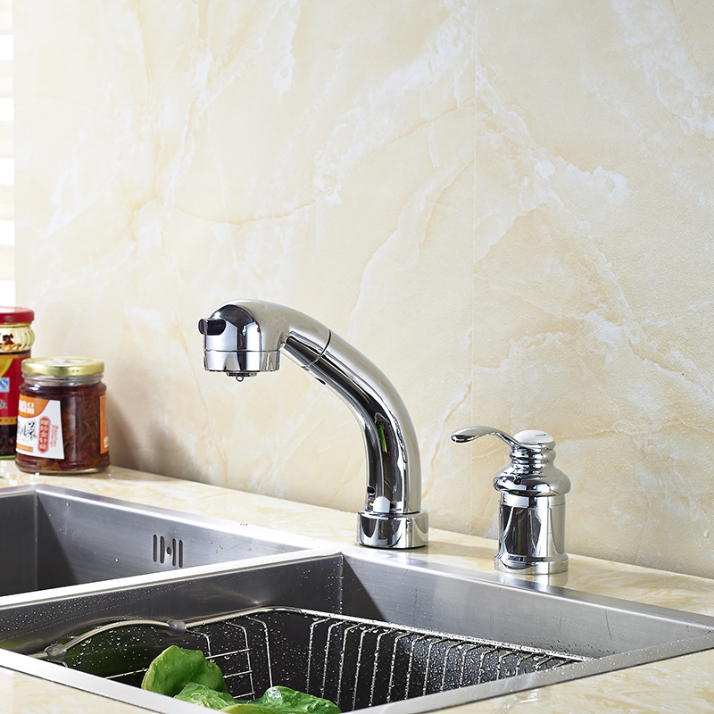 Solid Brass Kitchen Sink Faucet Single Handle Mixer Tap Hot and Cold Water Mixer Tap Chrome Polished 100% brass chrome polished hot and cold water purifier tap 3 way kitchen sink mixer faucet 2 holes drinking water tap kf042