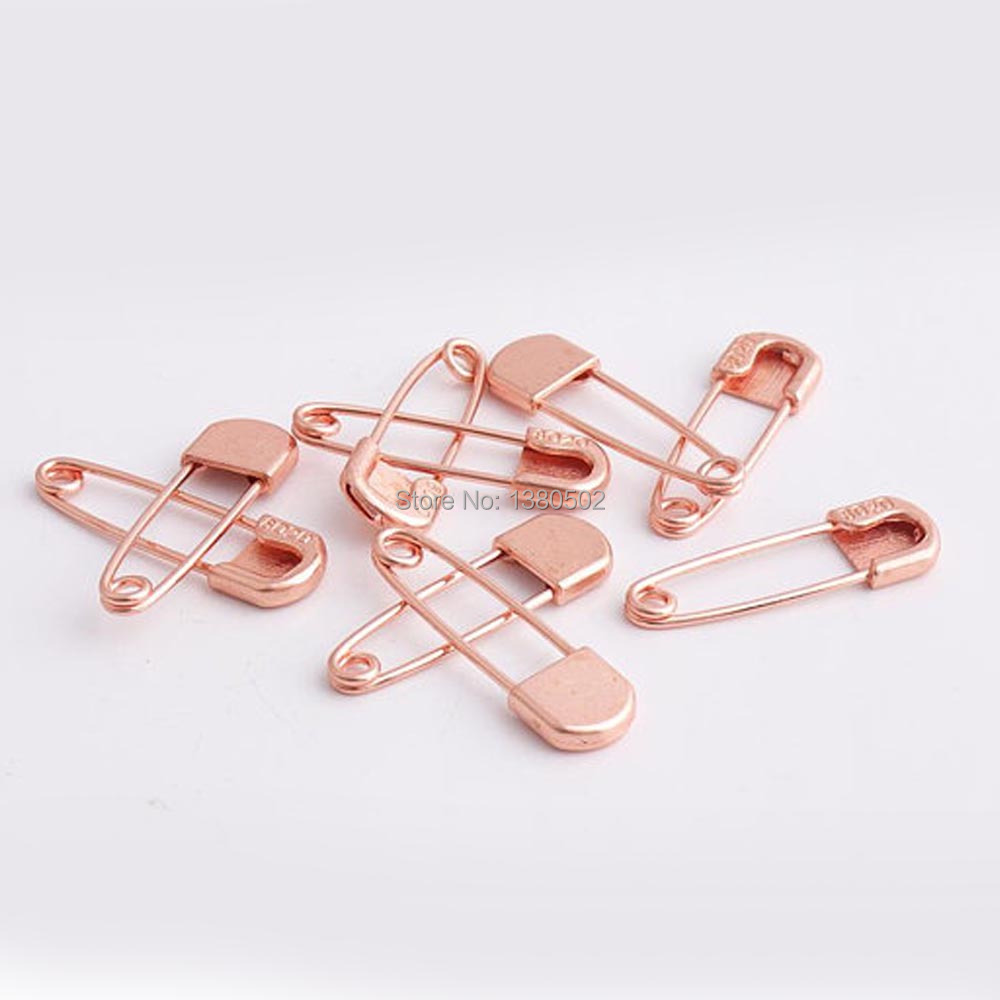 35*10mm 50pcs rose gold color Safety Pins Brooch Sewing tool Diy Craft
