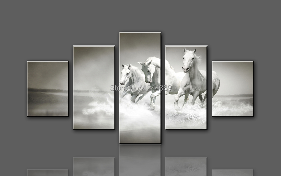 Aliexpresscom  Buy W707 3 White Horse Running 5 panel