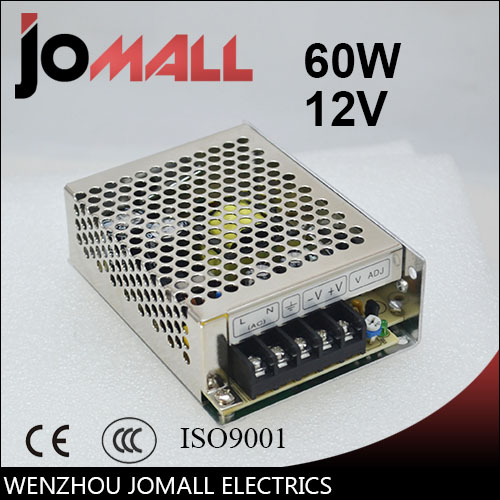 цена Free Shipping60w12v switching power supply AC220V to DC 12V 5A 60W-12V led 12v power supply switching power supply power supply