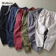 Men Plus Size Pants 8XL Solid Baggy Loose Elastic Pants Cotton Sweatpants Casual Pants Trousers Large Big Plus Size 5XL 6XL 7XL