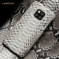 natural Python Leather phone case for Huawei mate20 P20 P30 Pro lite Luxury snakeskins Luxury Case For honor 8x 10 V20 20 Pro