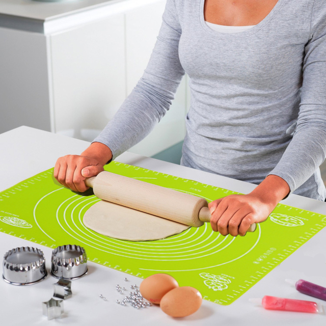 40x50cm big size of non slip silicone pastry mat with measurements