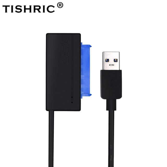 TISHRIC Black USB 3.0 to SATA iii 3 15Pin+7Pin 22Pin Adapter Cable 2.5''3.5'' SSD HDD External Hard Disk Drive Converter