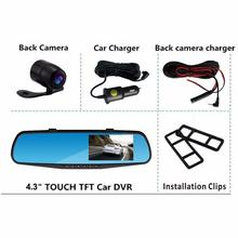 Cheapest prices Car DVR detector Camera Blue Review Mirror Dvr Digital Video Recorder Auto Dash Cam FHD 1080P  Dropshipping Oct9