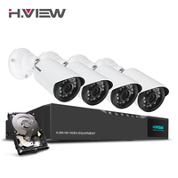 H View 16CH Surveillance System 1TB HDD 4 720P Outdoor Security Camera 16CH CCTV DVR Kit