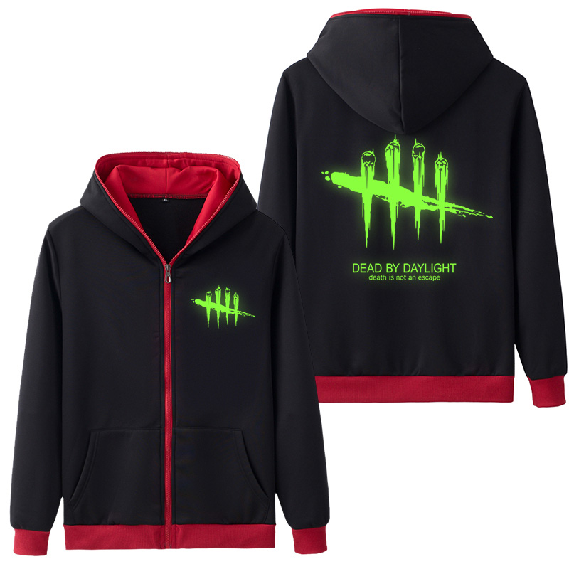 Game Dead by Daylight Logo Mens Hoodies Cosplay Coat Clothing Casual Hoodie Luminous Uni ...