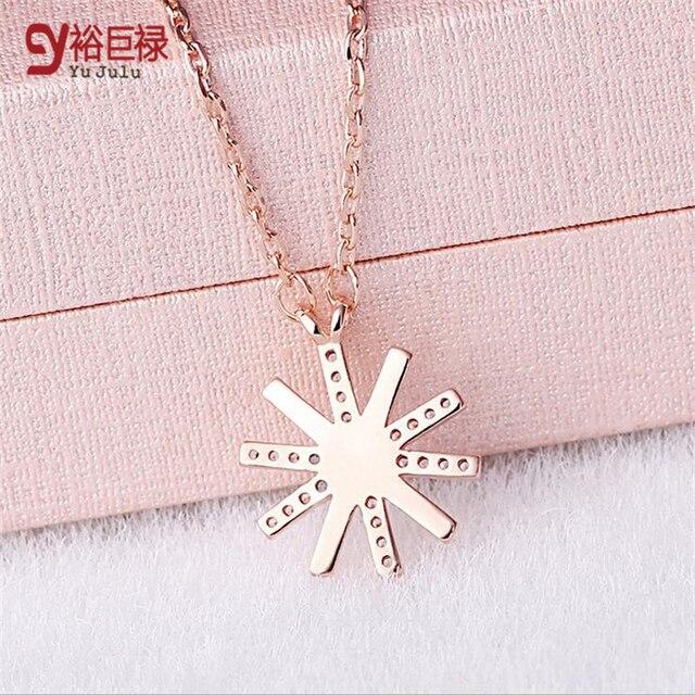 Женское серебряное ожерелье с подвеской крестом в виде цветка