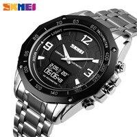 SKMEI Men Digital Watch Compass Temperature Electronic Wristwatch 3Bar Waterproof Chronograph Calorie Pedometer Sport Watch 1464