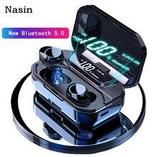Nasin TWS 5,0 Bluetooth 9D стерео беспроводные наушники IPX7 водонепроницаемые наушники 3300 мАч светодиодный держатель смартфона для хранения батарей