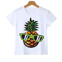 Top Quality Ananas Short Sleeve Pineapple Printed Boy/Girl T Shirt Kids Casual O-Neck Summer Children's Tees Shirt Z29-6