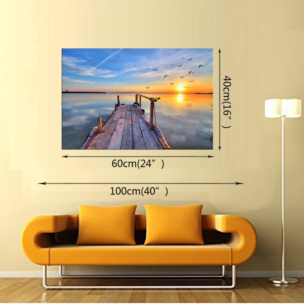 Framed 1Panel Classic sea view series Wall Art Oil Painting On ...
