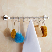 free shipping wall hook robe knife row hooks coatclothes hanger towel movable hook for bathroom
