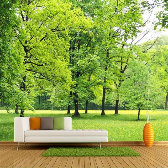 Jiadou commodity co ltd small orders online store hot for Nature wallpaper for living room