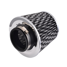 75mm Universal Auto Luftfilter Fit Cold Air Intake Runde Cone Auto Luftfilter Auto Pilzkopf Filter Grau farbe