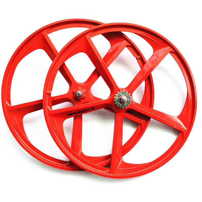 1 pair magnesium alloy single speed fixed gear bike wheels 700C road racing venues inch wheel bicycle accessories magnesium alloy road bike 700c wheel 5 spokes fixie bicycle mag tri front rear wheel mag alloy fixed gear bike wheels rims