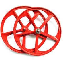 1 pair magnesium alloy single speed fixed gear bike wheels 700C road racing venues inch wheel