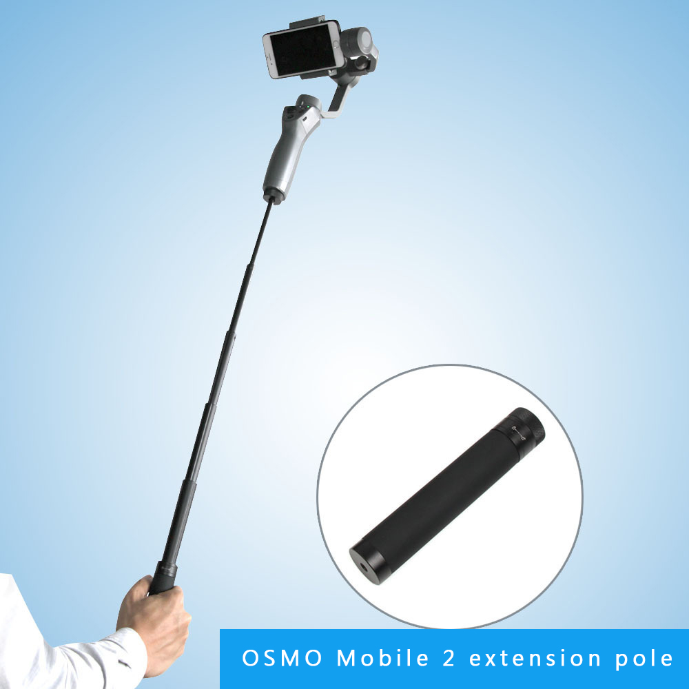 Black Extension Stick Holder Stand Tripod Mount Handheld Gimbal For DJI OSMO Mobile 2