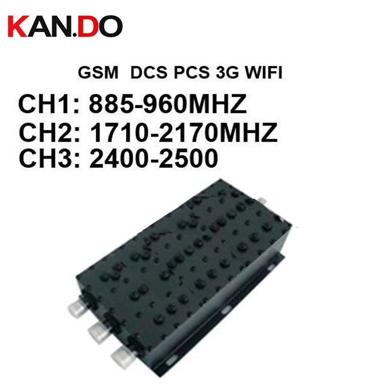 GSM DCS PCS 3G 2.4G combinateur de signal 8850-900/1800/1900/2100/2400 mhz combinateur de signal mélangeur de signal, mélangeur de signal, mélangeur de combinateur