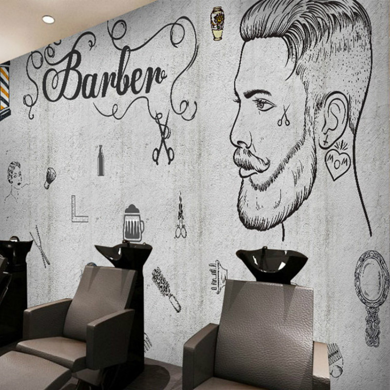 Custom Beauty 3D wallpaper pattern brick wall murals cafe gym Lounges barber shop 3D wallpaper for living room
