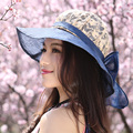 Summer sun-shading hat big sunscreen anti-uv female folding outdoor beach cap mz