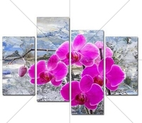 Diy Diamond Painting Snow Orchid Cross Stitch Needlework Handmade 5D Mosaic Diamond Embroidery Sets Home Decoration