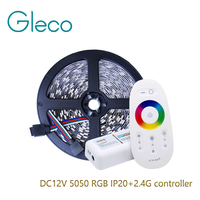 DC12V 5050 RGB LED Strip 60LED/m 5M/Lot,RGB 5050 LED Strip + 2.4G RGB LED Controller