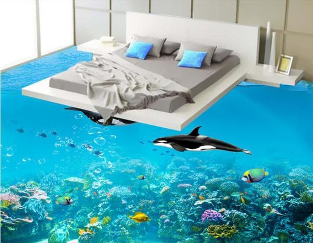 3 d flooring custom of 3d bathroom flooring wall paper The sea
